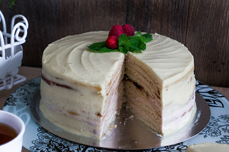 Торт молочная девочка пошаговый рецепт с с кремом сметана и