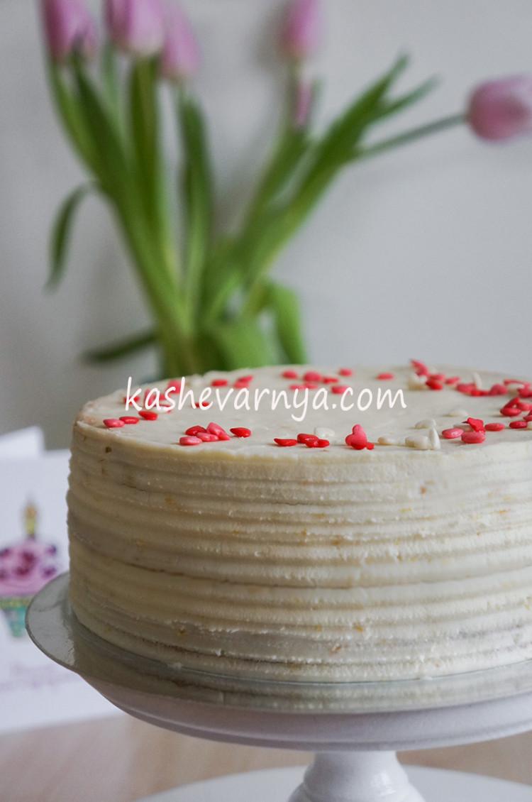 Бисквитный торт с малиново-лимонным вкусом