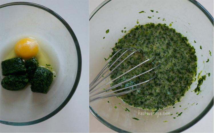 Оладьи со шпинатом