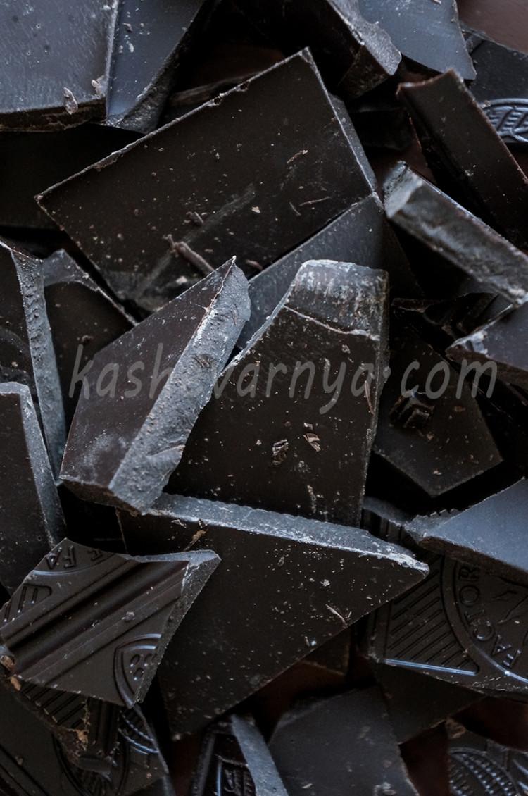 Шоколадный тарт с соленой карамелью