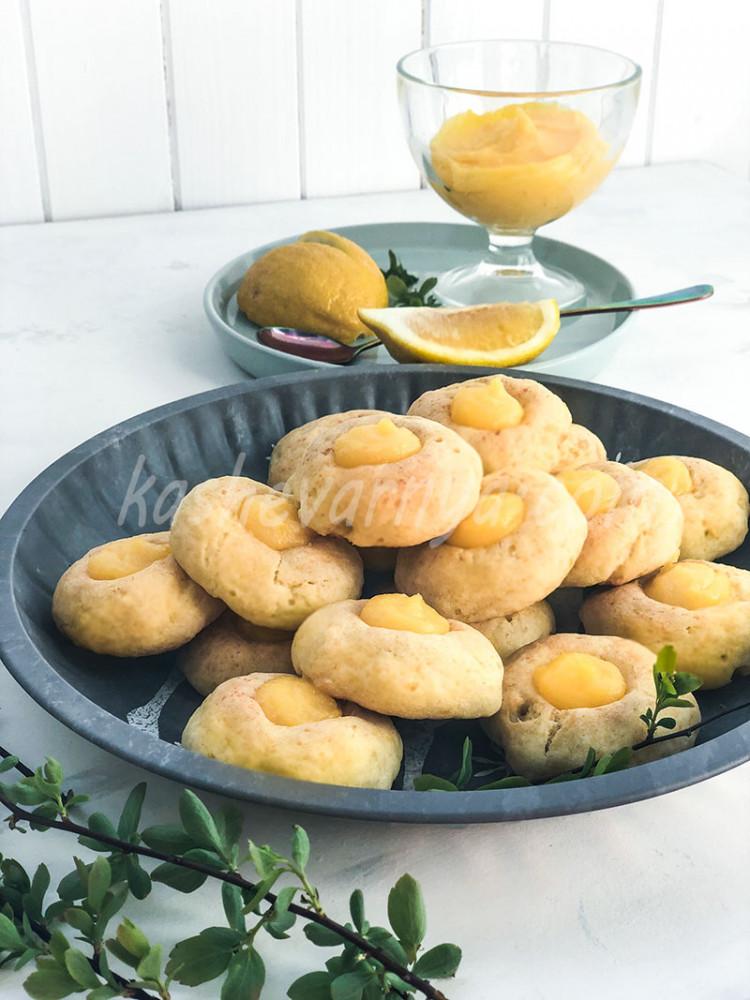 Мягкое творожное печенье с начинкой
