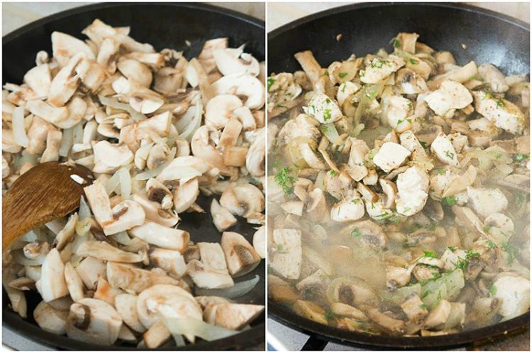 Рецепт сливочной пасты с курицей и грибами