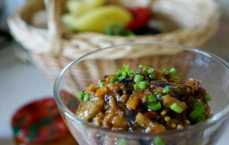 Вкусная закуска из баклажан на зиму