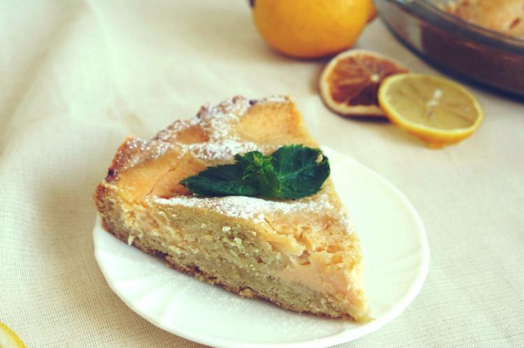 Лимонный пирог с кремом