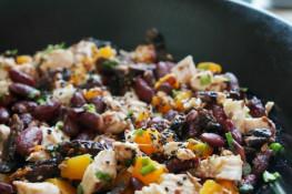 Салат с тыквой и курицей рецепт
