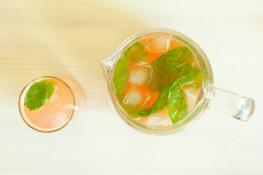 Напиток из ревеня и мяты в домашних условиях