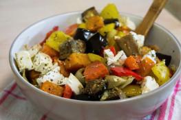 Салат из запеченных овощей с фетой