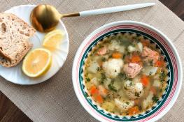 Суп из красной рыбы рецепт